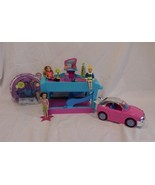 Polly Pocket Doll Driver in Sports Car Mini Figure Mattel + Dolls + Car Wash - $31.47