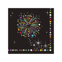New Years Eve Sparkle Beverage Napkins 16 Ct Party - $3.79