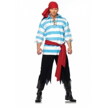 4 Piece Pillaging Pirate Halloween Costume Cosplay Pant Shirt Scarf Sash... - $44.99