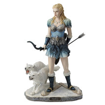 skadi- norse goddess of winter, hunt and mountains home decor statue figure - $72.00