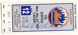 Ralph Kiner Tim McCarver Signed Autographed 1991 Mets Spring Training Ti... - $23.29