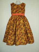 Handmade VHTF Handmade Fall/Autumn Leaves Sparkle Dress Custom Sz 12M-14Yrs - $59.98
