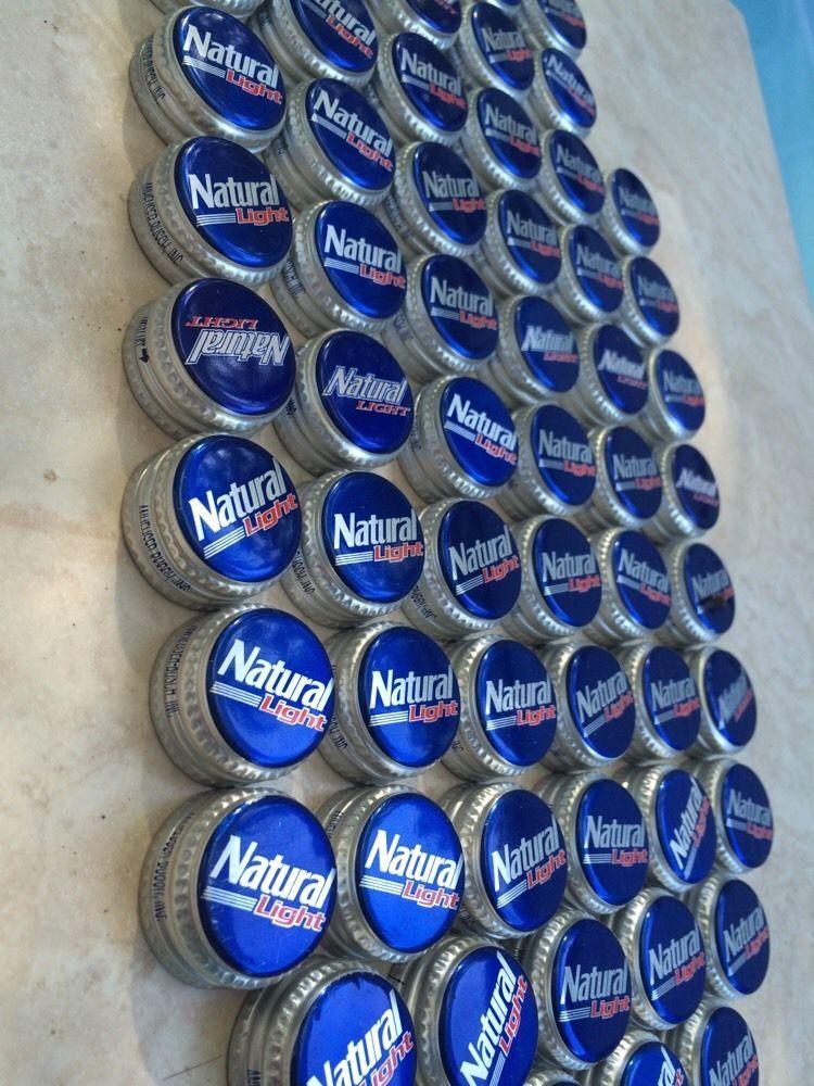 70 natural light beer bottle caps anheuser busch recycled for Can beer bottle caps be recycled