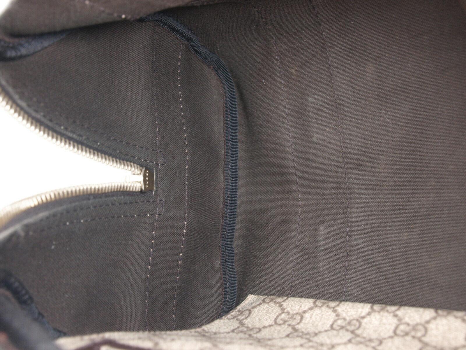 GUCCI GG Web PVC Canvas Patent Leather Browns Shoulder Bag GS2242 image 9
