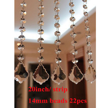 10pcs 20'' Chandelier Crystal Bead Curtain Wedding Strand Chain Party Decoration - $19.35