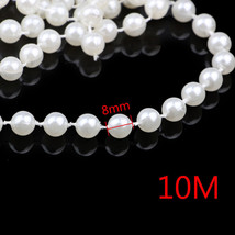 8mm Ivory Pearl String Wedding Party Decoration Beaded Table Decoration  10M - $8.96