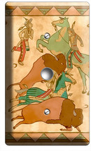 NATIVE AMERICAN INDIAN TIPI BUFFALO LIGHT DIMMER CABLE WALLPLATE ART COV... - $8.90