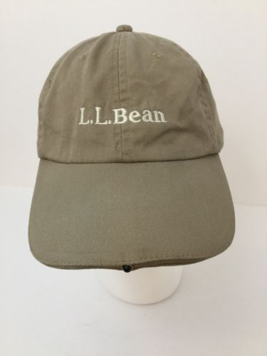 8fa5585e25a01 12. 12. Previous. LL Bean Khaki Pathfinder Head Lamp LED Light Hat Cap  Night Hiking Strapback