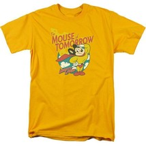 Mighty Mouse The Mouse of Tomorrow retro gold graphic t-shirt CBS960 image 1