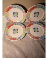"(4)  SAKURA  MALIBU  8""  SALAD PLATES  MAJESTICWARE  1998  -FREE SHIP--VGC - $30.78"