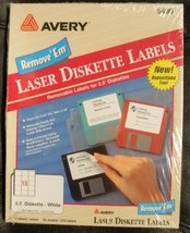 """Avery Laser 3.5"""" Removable Diskette Labels - White - 375 labels [Brand New] - $16.98"""