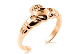 10K Solid Yellow GOLD Claddagh Toe Ring - $65.00