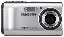 Samsung Digimax A503 5.0 MP Digital Camera Silver - $24.50