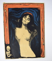 Vtg 70's EDVARD MUNCH Graphic Work Madonna Lith... - $296.99