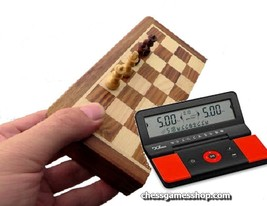 "Magnet chess set 7"" (18cm) with digital Clock DGT960 -timer-Travel-Pocke... - $55.17"