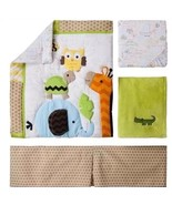 Circo Jungle Stack 4 Piece Nursery Crib Baby Bedding Set Giraffe Zoo Owl - $62.99
