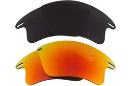 New Seek Optics Replacement Lenses Oakley Fast Jacket Xl   Black Red - $21.81