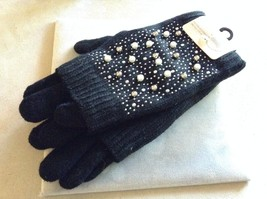 New Fashion Accessories Gloves Black With Pearls Metal Studs One Size Fits All