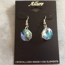 New Allure Earrings Swarovski Crystal Element Blue Hue Hanging