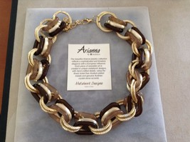 New Ananna By Howard's Metal Works Brown Gold Toned Chain Necklace