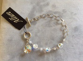 New Allure Silver Toned Clear Charm Bracelet