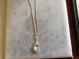 New Allure Silver Toned Swarovski Necklace Braided Chain