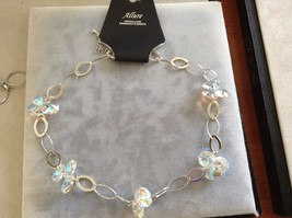 New Allure Swarovski Crystal and Silver Plated Loop Necklace