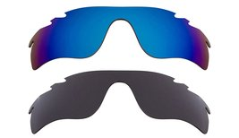 New Replacement Lens Oakley VENTED RADAR LOCK Grey Blue - $32.48