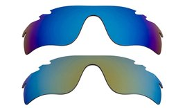 New Replacement Lens Oakley Vented Radar Lock   Green Blue - $32.48
