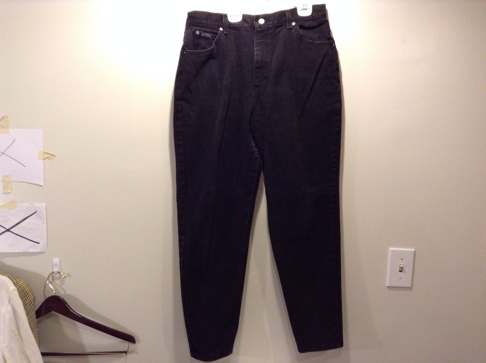 Used Good Condition Black Denim Riders Jeans Size 16 Petite