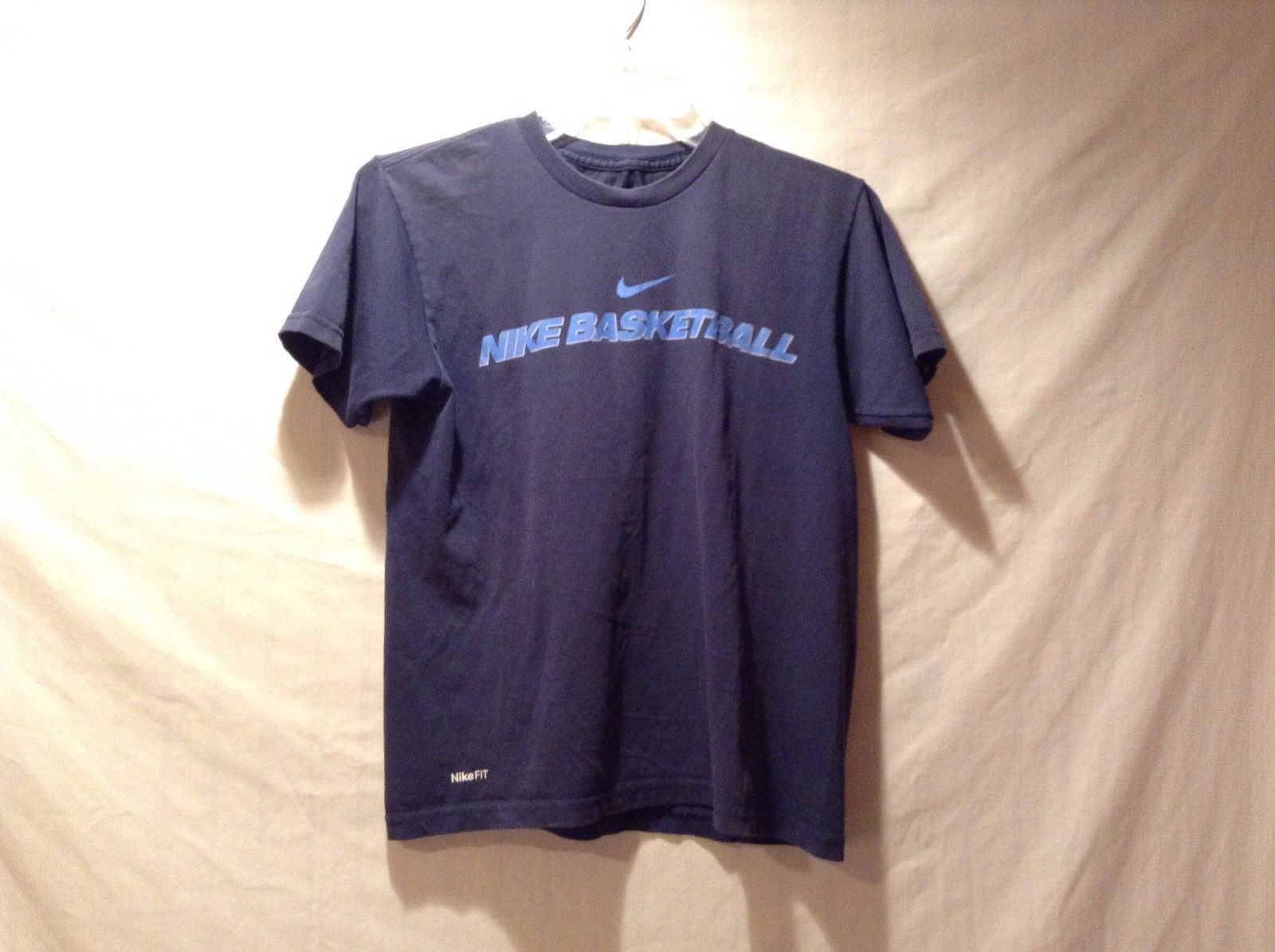 Used Good Condition Kids Medium Nike Fit Basketball T-Shirt Navy Blue