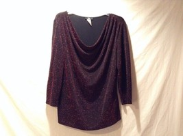 Used Great Condition Black and Red Sparkly JBS Nylon Blend Long Sleeve Top