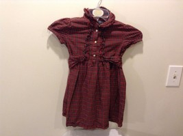 Used Great Condition Red Plaid Toddler Dress 100% Cotton American Living 6X