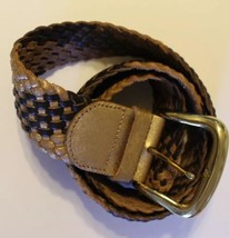 MARCIANO By Guess Women's Braided Leather Belt Gold/Tan Size X-Small - €18,14 EUR