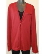 NWT Ladies Calvin Klein Red Long Sleeve Cardigan XXL Overpiece - $28.95
