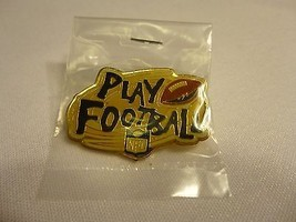 NFL Play Football Lapel Hat Pin 1995 Promotional Peter David - $4.94