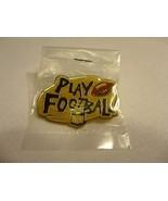 NFL Play Football Lapel Hat Pin 1995 Promotional Peter David - $4.94