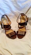 Nine west brown woman heel size 7 1/2 - $15.99
