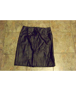 woems cato black faux leather pu straight skirt size 6 28  - $19.78