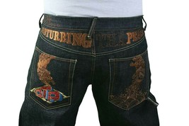 The Year Of Dtp Ludacris Disturbing Peace No War Brut Jeans Bleu Nwt Taille : 38
