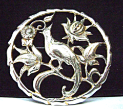 Vintage Sterling Bird of Paradise Brooch Bond B... - $29.00