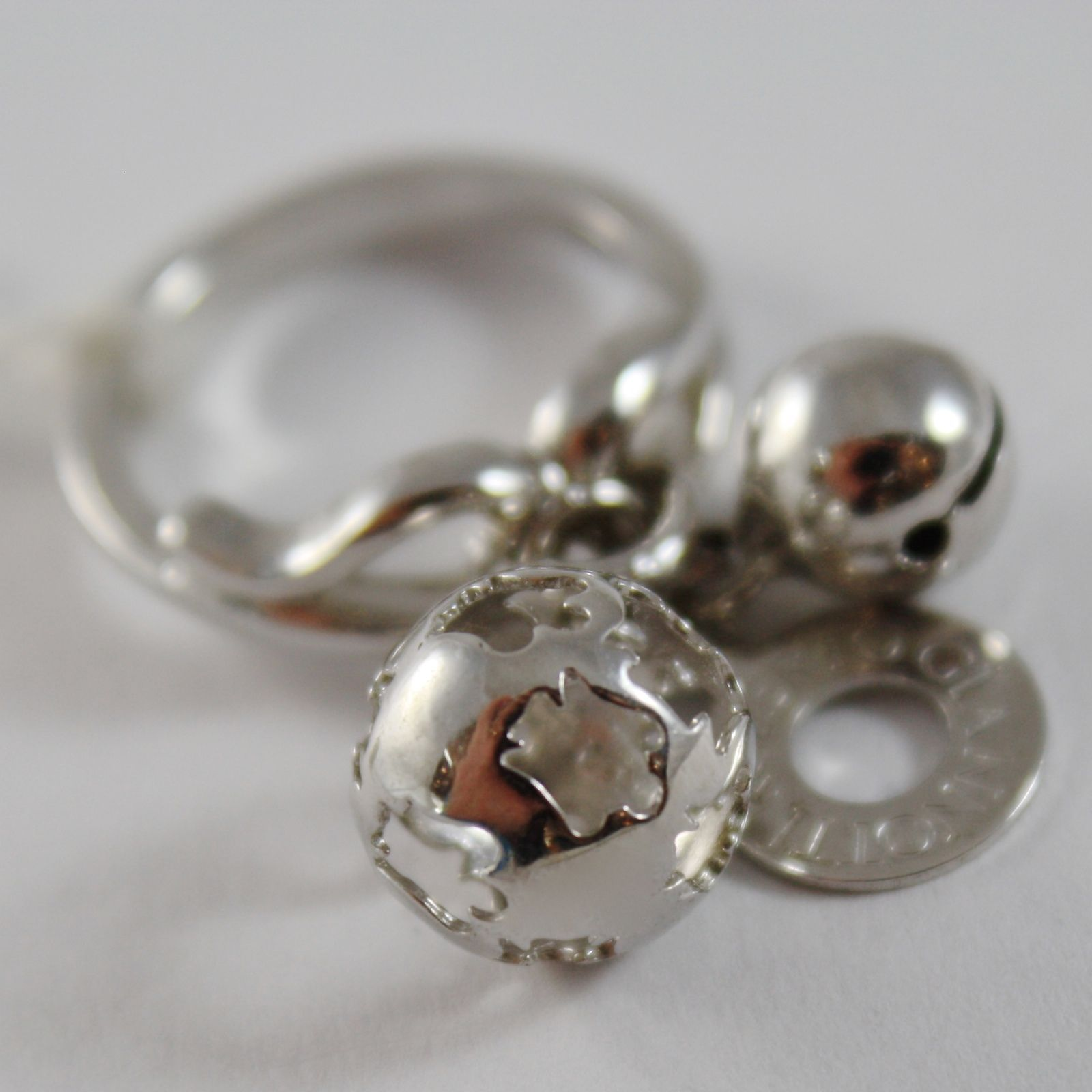 ROBERTO GIANNOTTI 925 SILVER RING 2 HARMONY BALLS ANGEL CALLER MADE IN ITALY