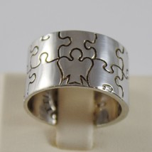ROBERTO GIANNOTTI 925 SILVER BAND RING WITH ANGEL AND PUZZLE MADE IN ITALY