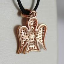 ROBERTO GIANNOTTI 925 SILVER PENDANT CHARM ZIRCONIA ROSE PINK ANGEL MADE ITALY image 3