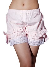 Pink Cotton Ruffles Victorian Bloomers Shorts Pumpkin Pants - $18.99