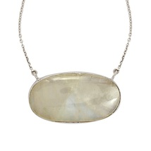 New Collection Rainbow moonstone gemstone 925 sterling necklace SHNL0058 - $53.24