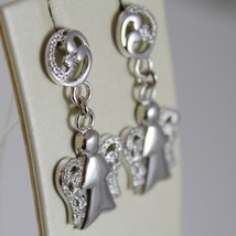925 STERLING SILVER EARRINGS ANGELS PENDANT MADE IN ITALY BY ROBERTO GIANNOTTI image 2