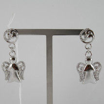 925 STERLING SILVER EARRINGS ANGELS PENDANT MADE IN ITALY BY ROBERTO GIANNOTTI image 3
