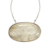 Royal looking shiny rainbow moonstone 925 sterling necklace SHNL0060 - $97.68