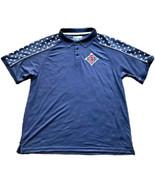 "Cleveland Indians Baseball ""Stars & Stripes"" Men's XL Polo Shirt Blue ML... - $14.99"